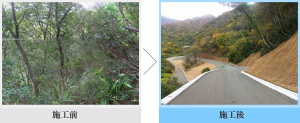 五頭山麓南線野須波里工区開設工事の画像